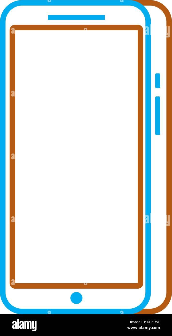modern touchscreen gadget smartphone empty screen - Stock Image