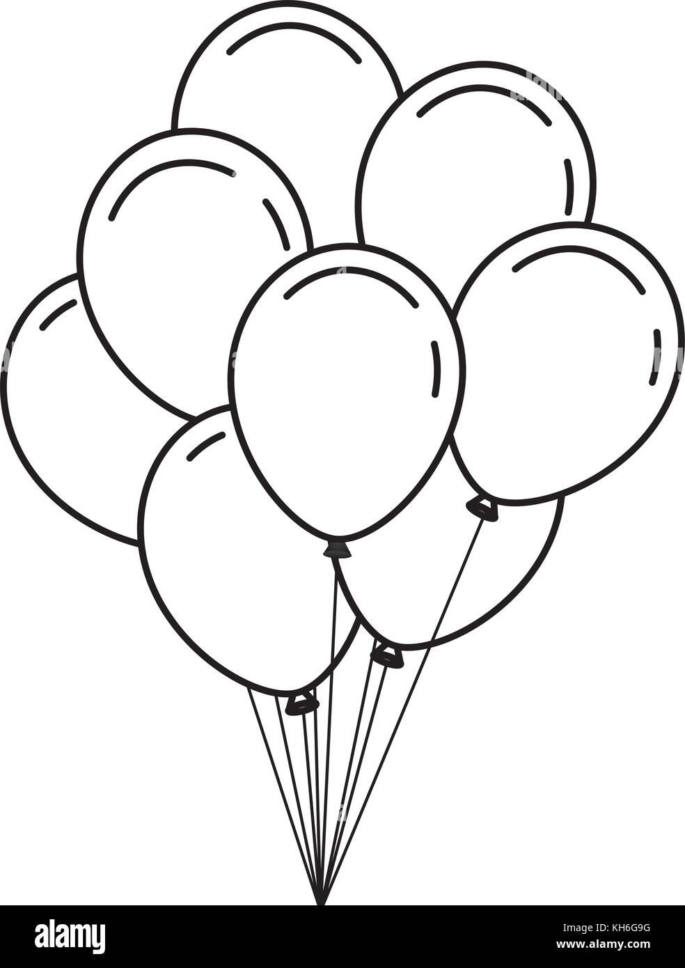 Bunch Of Birthday Balloons For Party And Celebrations