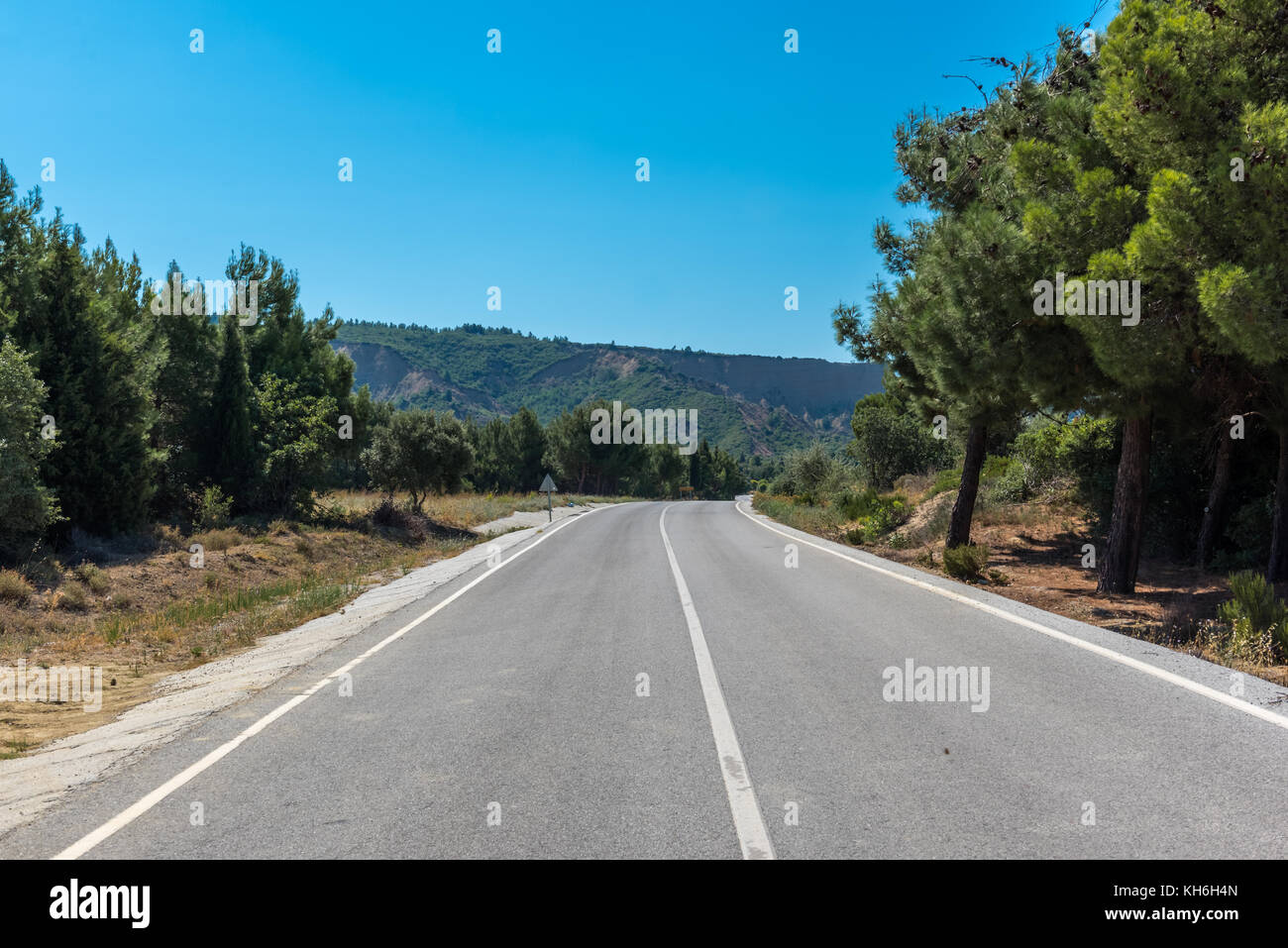 Anzac-Suvla Road in Canakkale,Turkey. - Stock Image