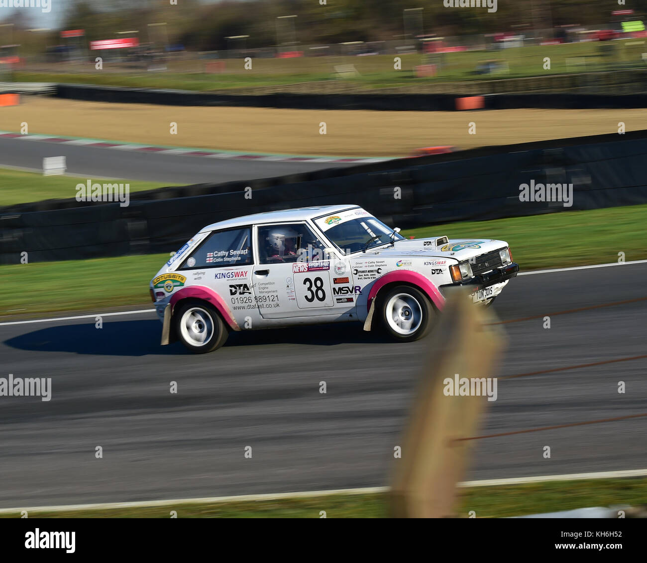 Cathy Sewart, Colin Stephens, Talbot Sunbeam, MGJ Rally Stages, Chelmsford Motor Club, Brands Hatch,  Saturday, - Stock Image