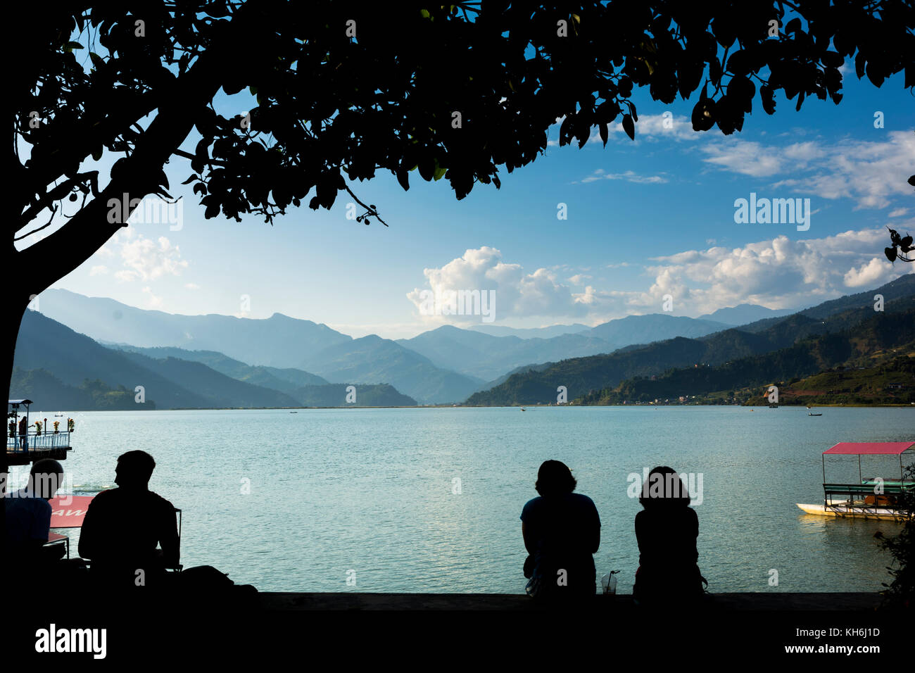 Fewa Lake of Pokhara, Nepal - Stock Image