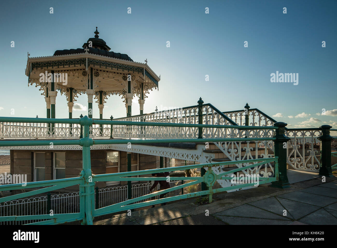 Victorian bandstand in Brighton, East Sussex, England. - Stock Image