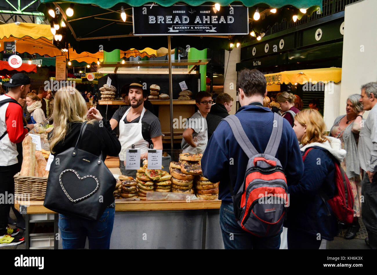 Borough Market, London, UK. - Stock Image
