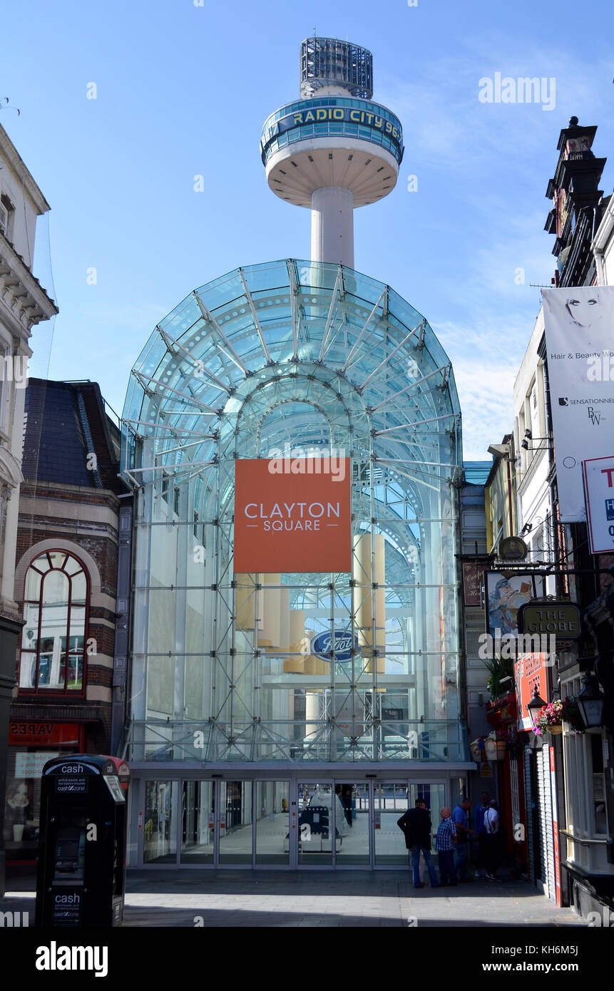 Clayton Square Shopping Centre & Radio City Tower, Liverpool, UK. - Stock Image