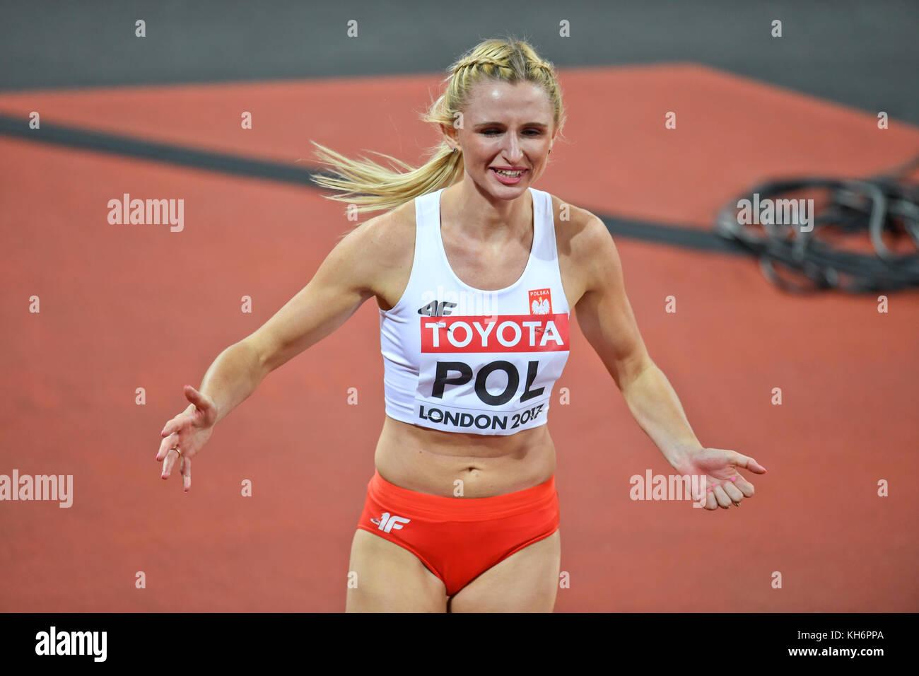 Malgorzata Holub (Poland) - 4x400 Metres Relay women - IAAF World Championships - London 2017 - Stock Image