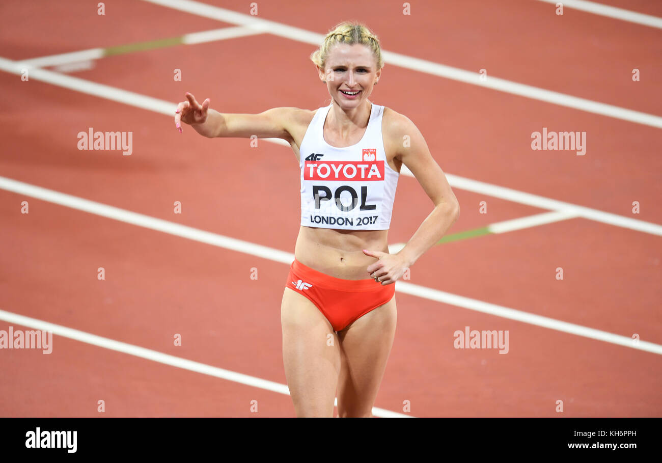 Malgorzata Holub (Poland) - 4x400 Metres Relay women - IAAF World Championships - London 2017 - Stock Image