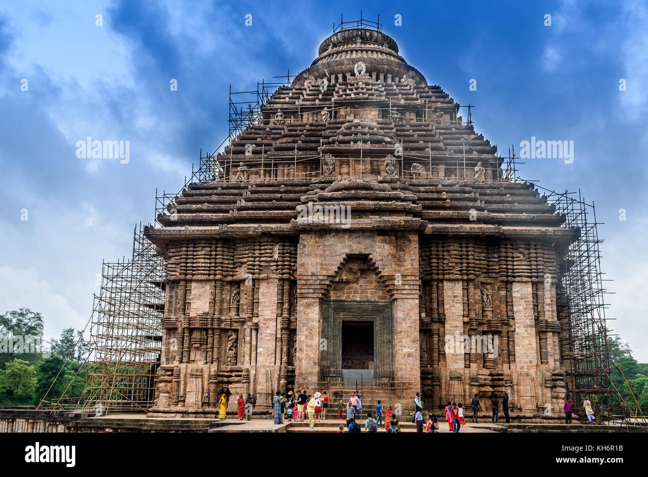 Konark Sun Temple is a 13th-century CE Sun Temple at Konark in Odisha, India. It is believed that the temple was - Stock Image