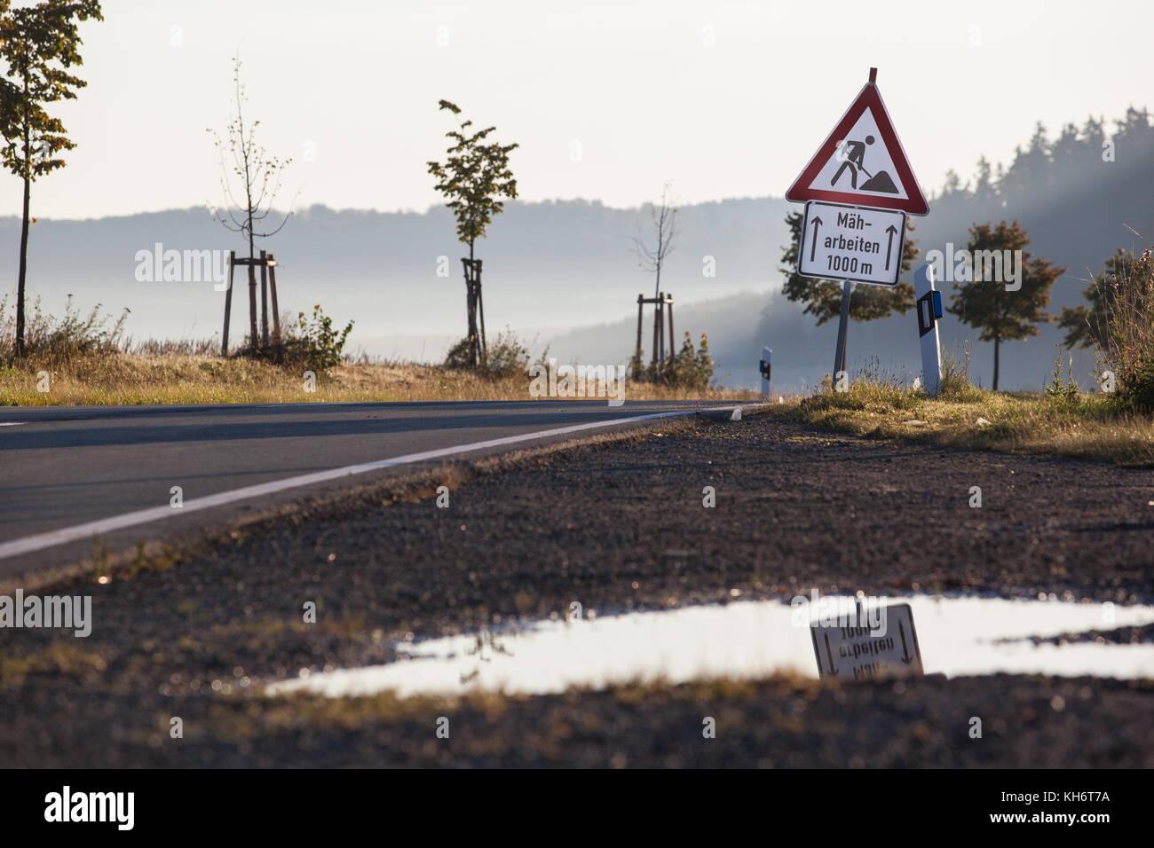 Verkehrszeichen Bauarbeiten - Stock Image