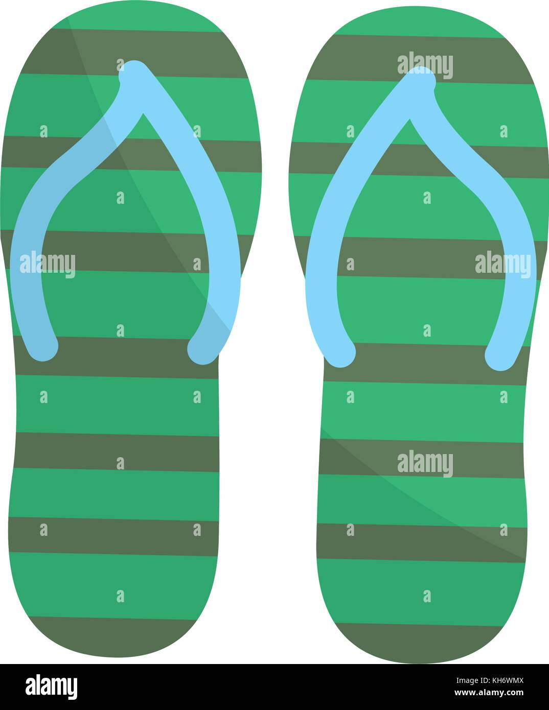 e3ef3693caef7b Sandals of shoes footwear and beach theme Isolated design Vector  illustration