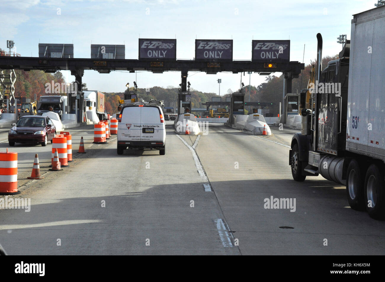 Toll Booth near New York - Stock Image