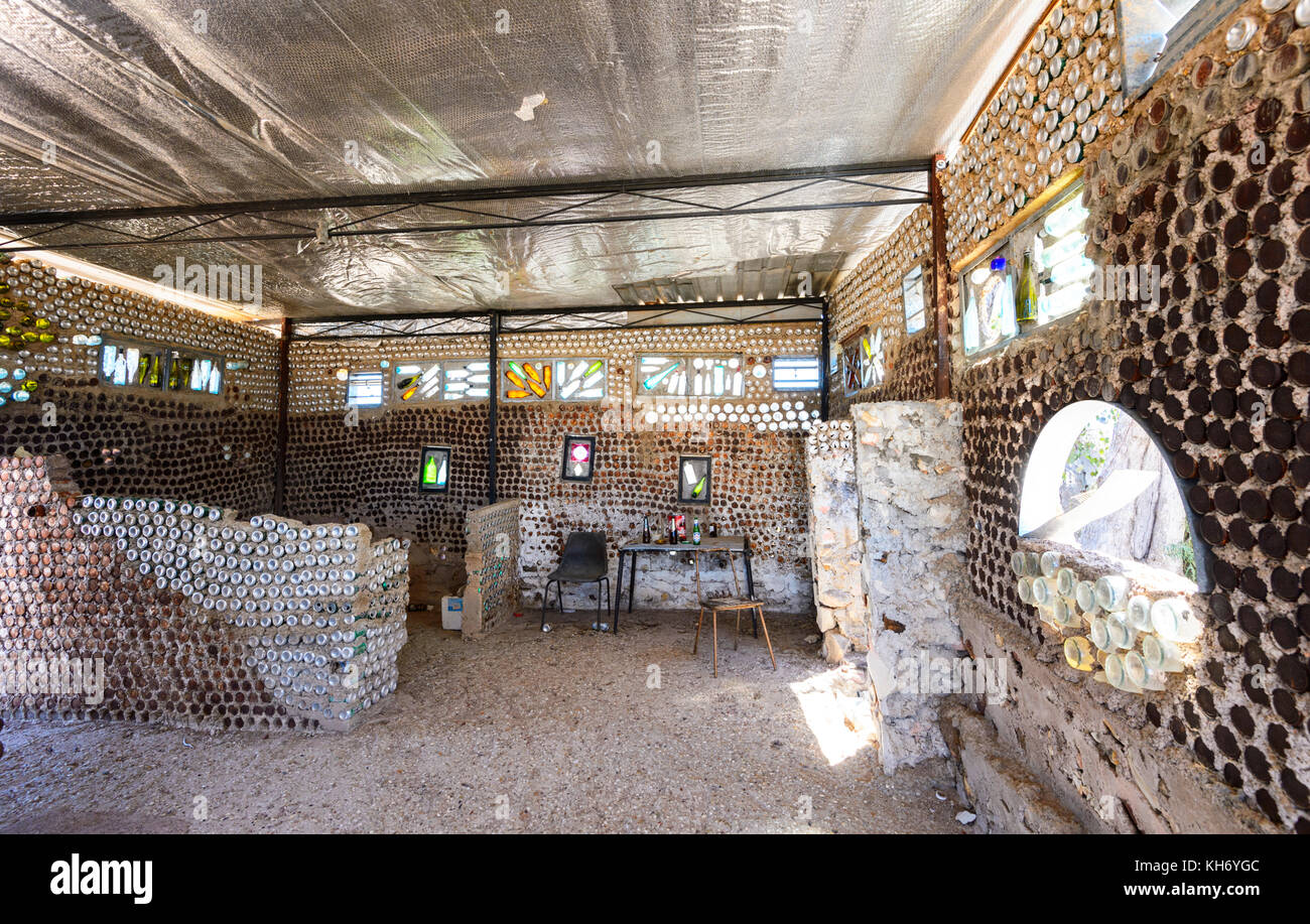 Awesome Interior Of The Beer Can House Made Of Old Beer Cans And Interior Design Ideas Philsoteloinfo