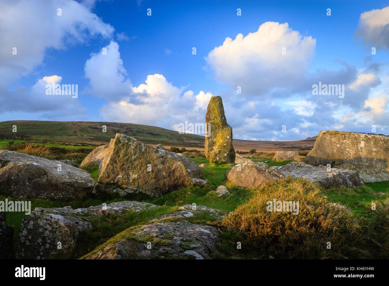 Carreg Waldo Rhos Fach Mynachlog-ddu Pembrokeshire Wales - Stock Image