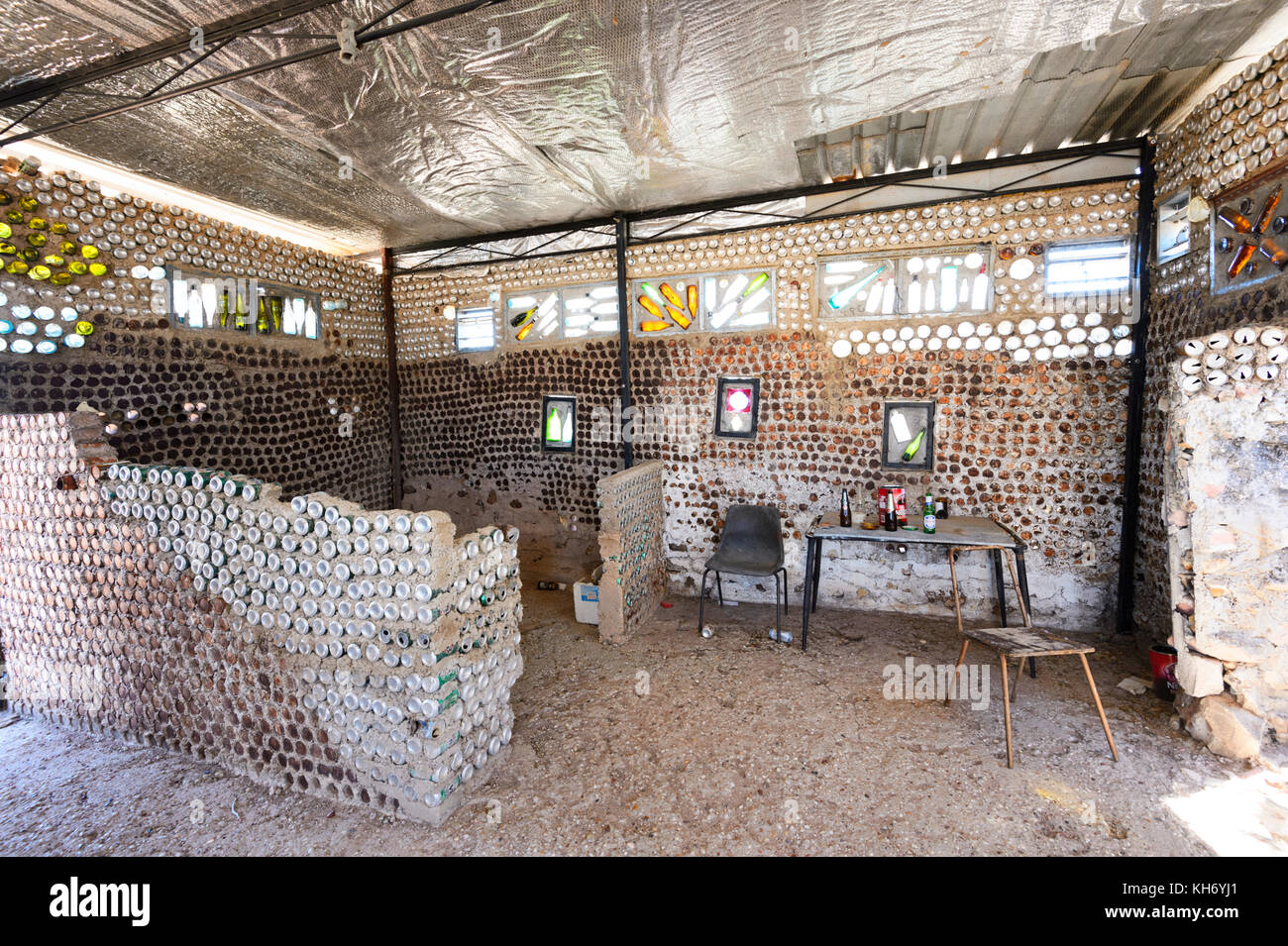 Astounding Interior Of The Beer Can House Made Of Old Beer Cans And Interior Design Ideas Philsoteloinfo