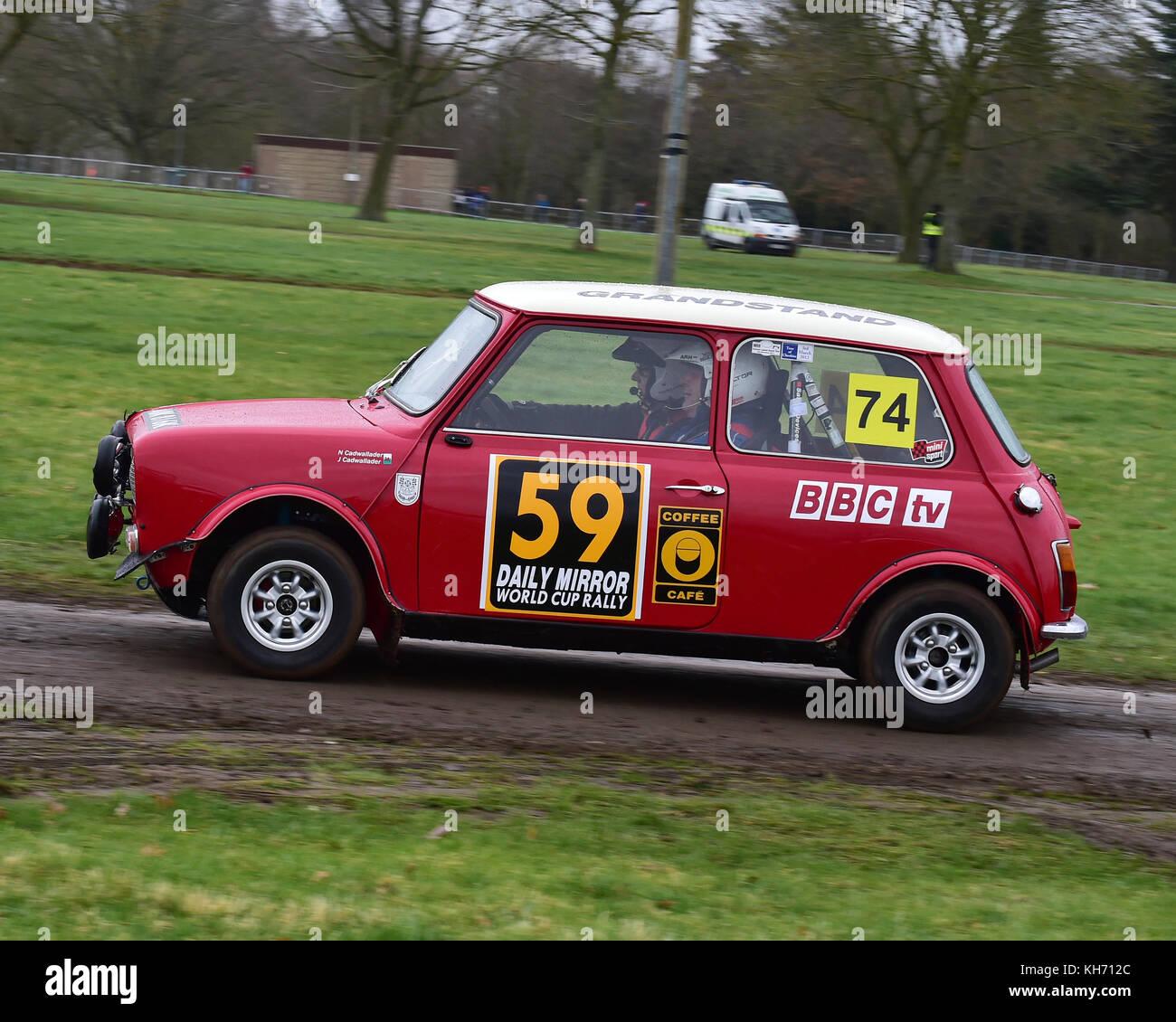 John Cadwallader, Nic Cadwallader, Mini Clubman GT, Race Retro ...