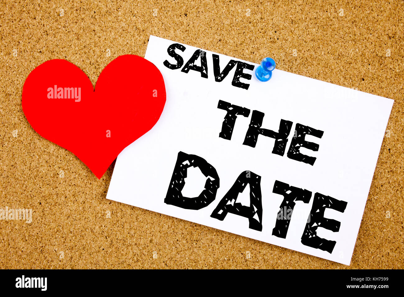 Conceptual hand writing text caption inspiration showing Save The Date concept meaning Love Special Day and Greeting - Stock Image