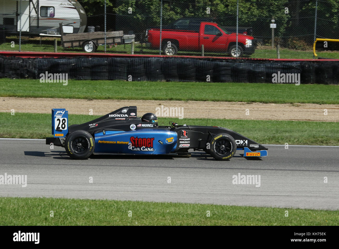 Ben Waddell. Car 28. Sponsor Stoner Car Care. Formula 4 Race. Mid-Ohio Sports Car Course. Lexington, Mansfield, - Stock Image