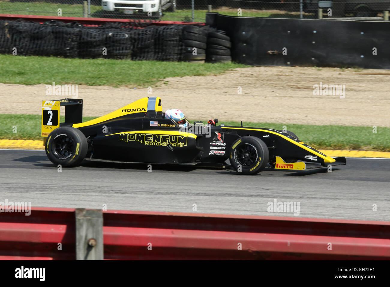 Skylar Robinson. Car 2. Sponsor Momentum Motorsports. Formula 4 Race. Mid-Ohio Sports Car Course. Lexington, Mansfield, - Stock Image