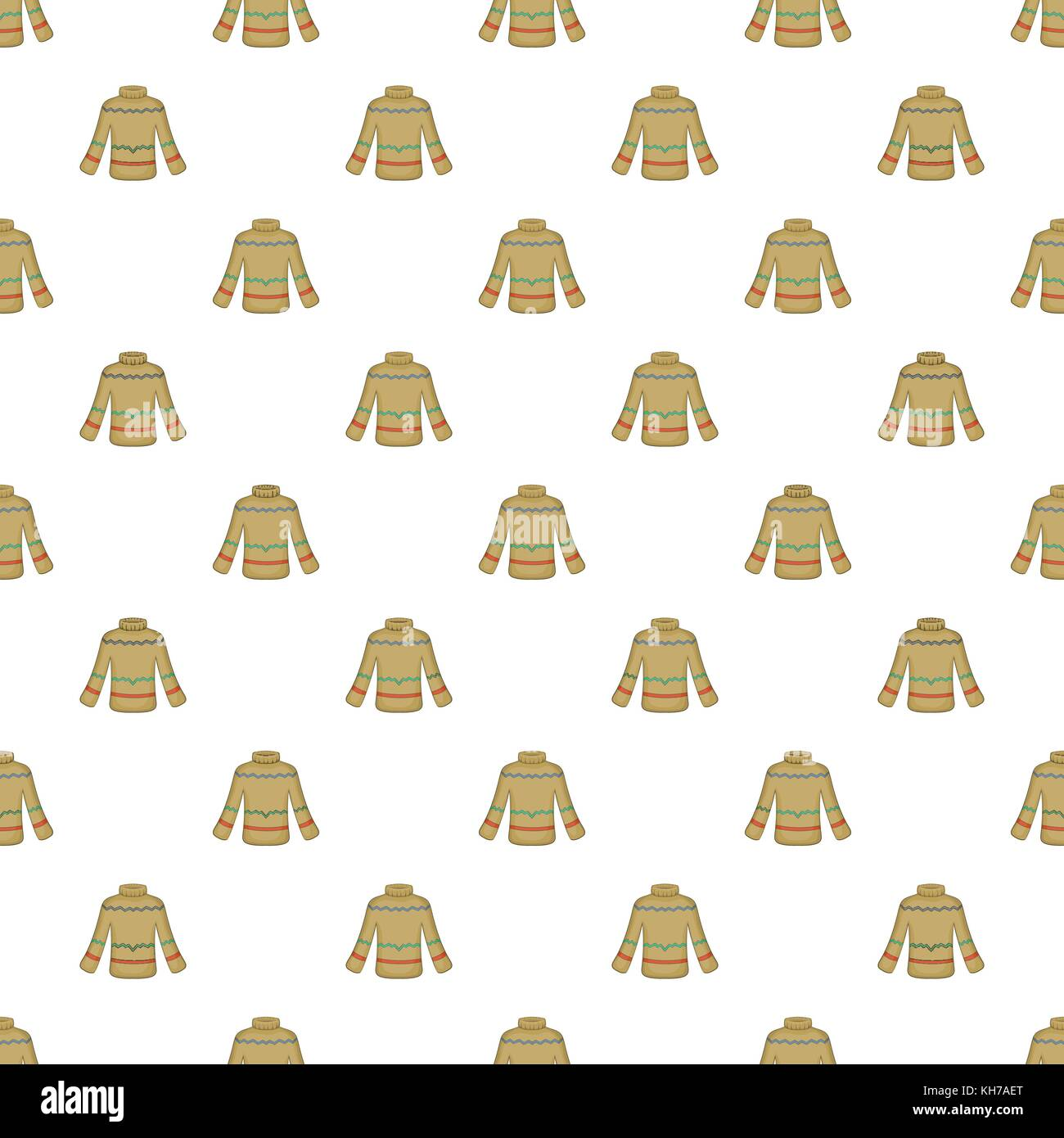 Sweater pattern, cartoon style - Stock Vector