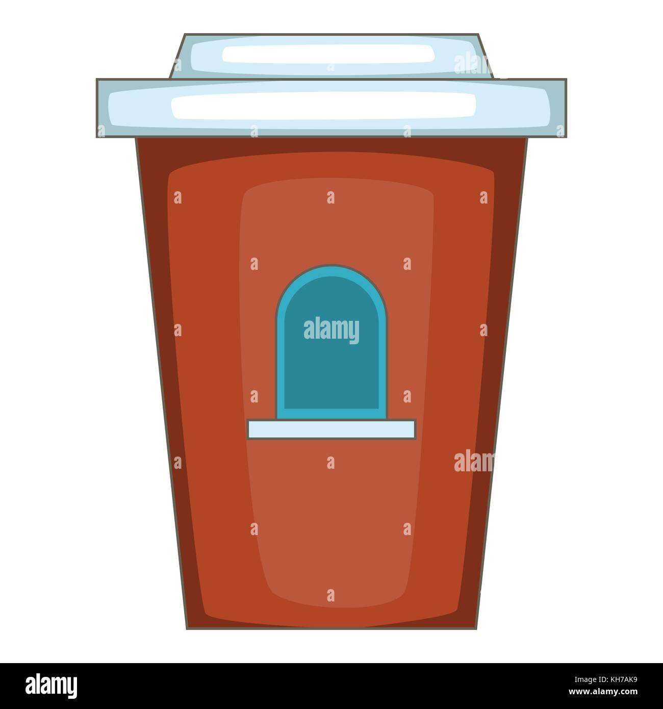 Coffee seller icon, cartoon style - Stock Image