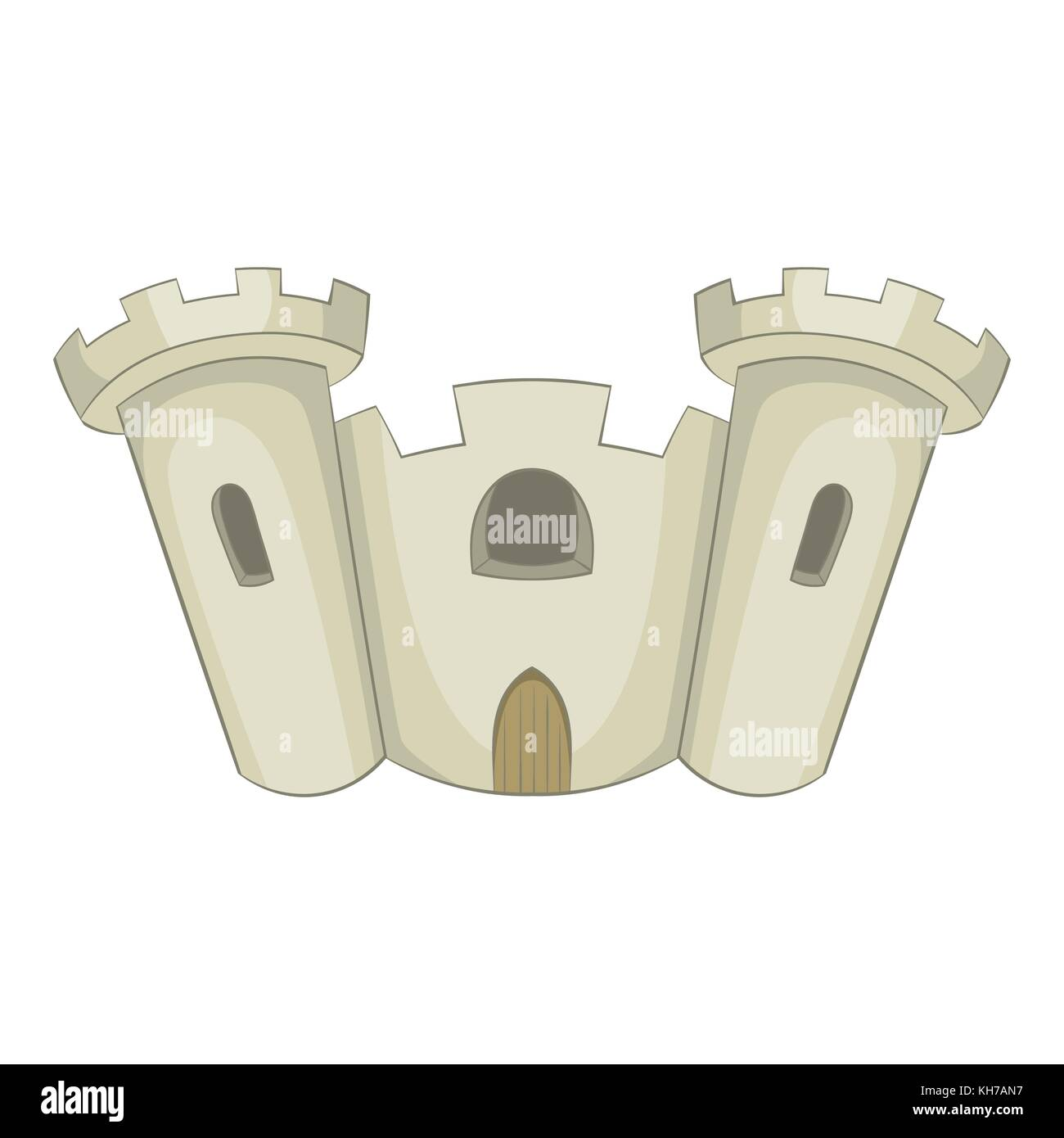 Ancient castle icon, cartoon style Stock Vector