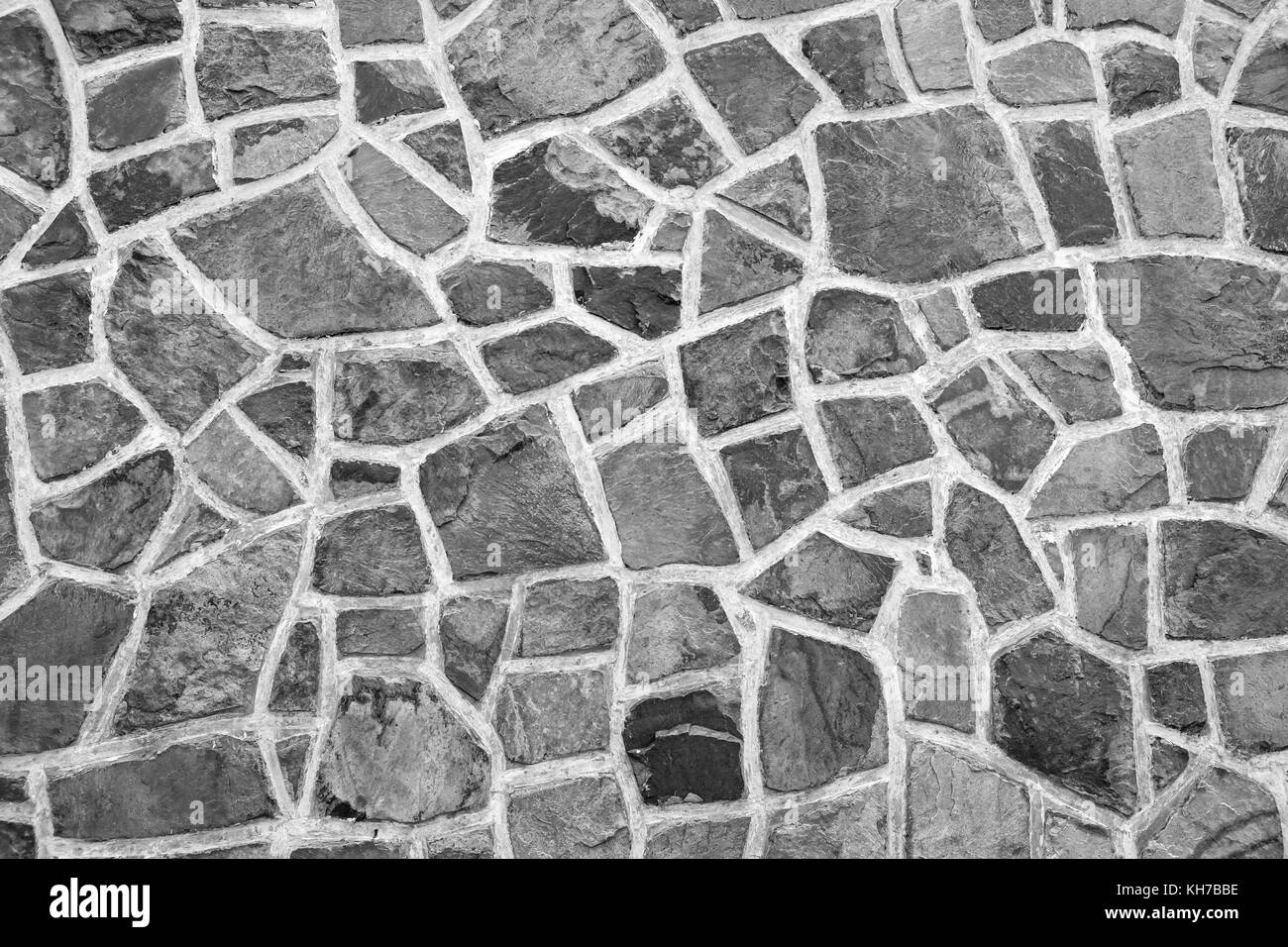 black stone wall texture exterior wall colorful stone wall texture background black and white white stock photo