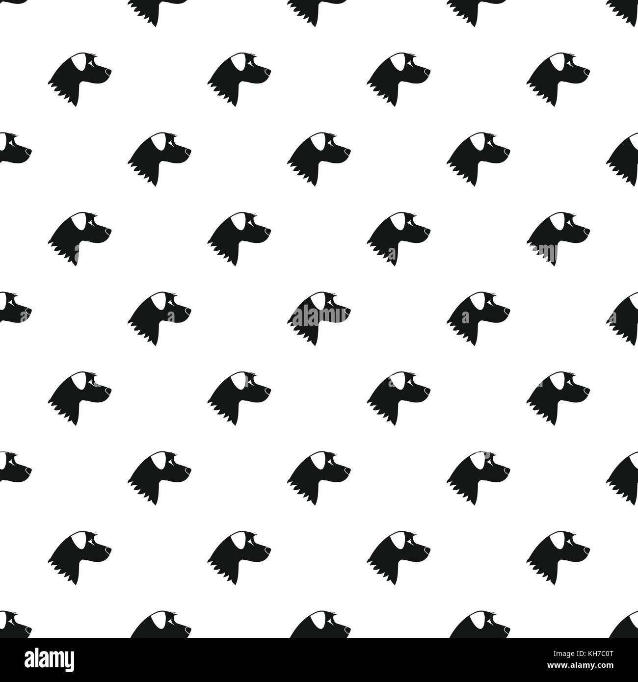 Dog pattern, simple style - Stock Image