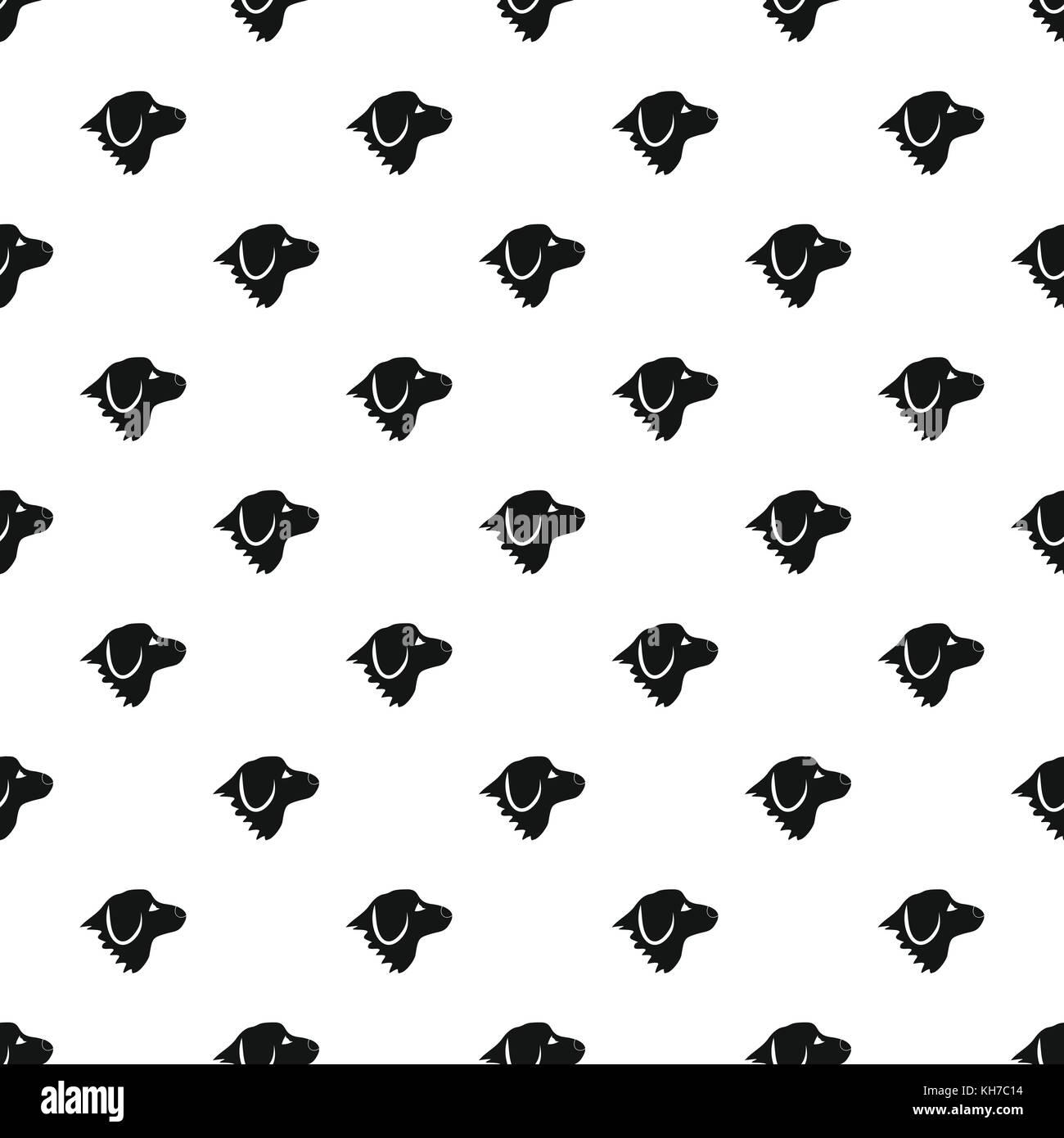 Retriever dog pattern, simple style - Stock Image