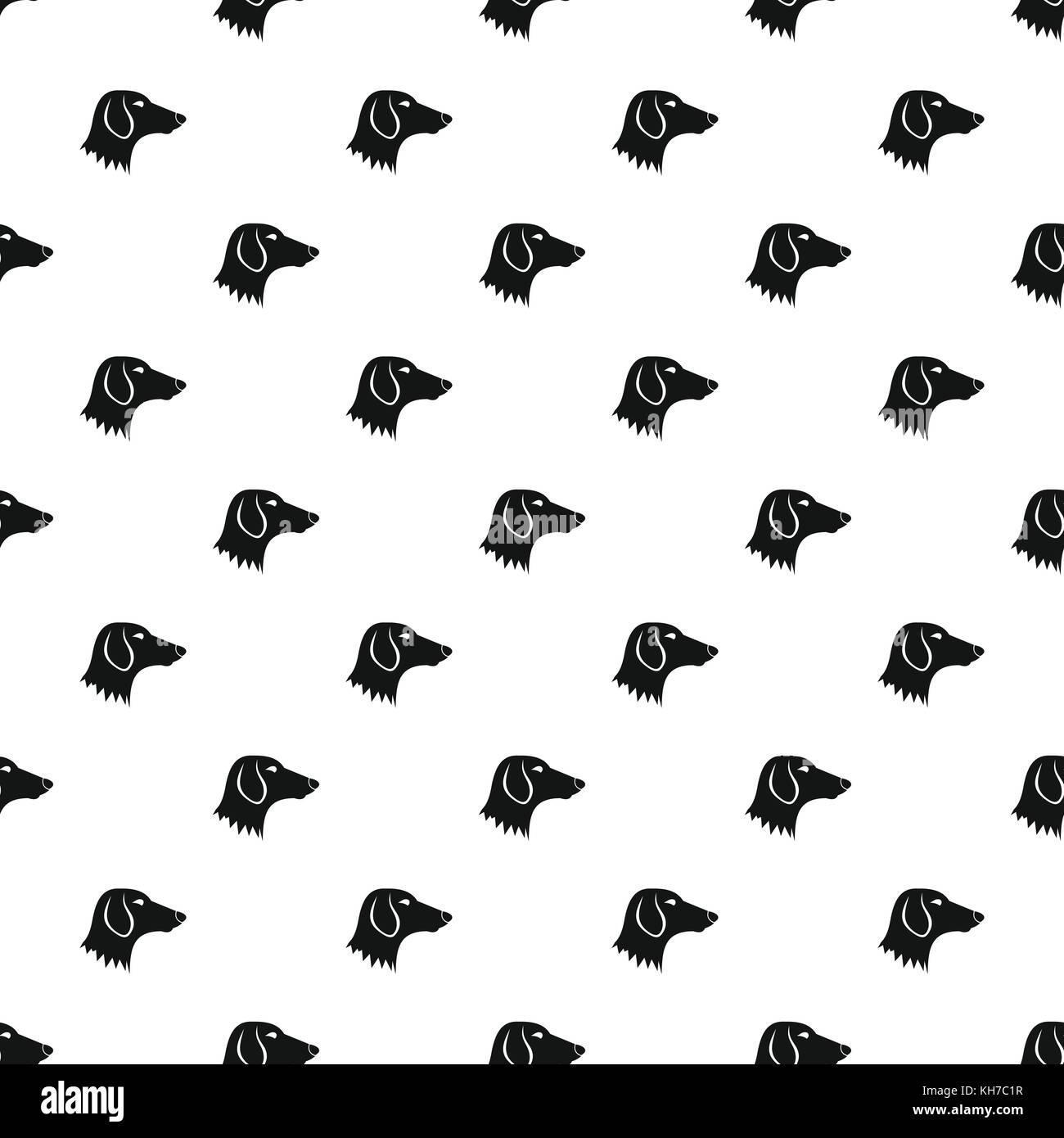 Dachshund dog pattern, simple style - Stock Image