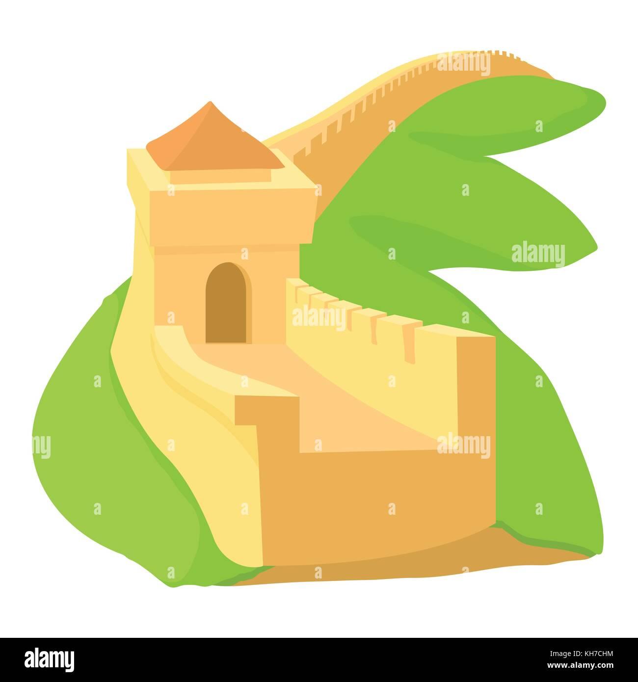 Great Wall China Vector Icon Stock Photos & Great Wall China Vector ...