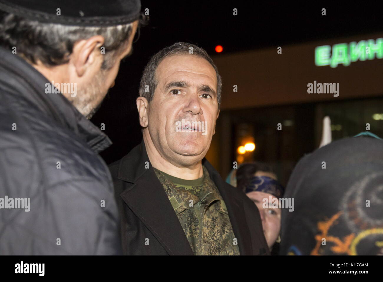 Grozny, Russia. 13th Nov, 2017. The representative of the Chechen Republic in the Middle East and North Africa, - Stock Image