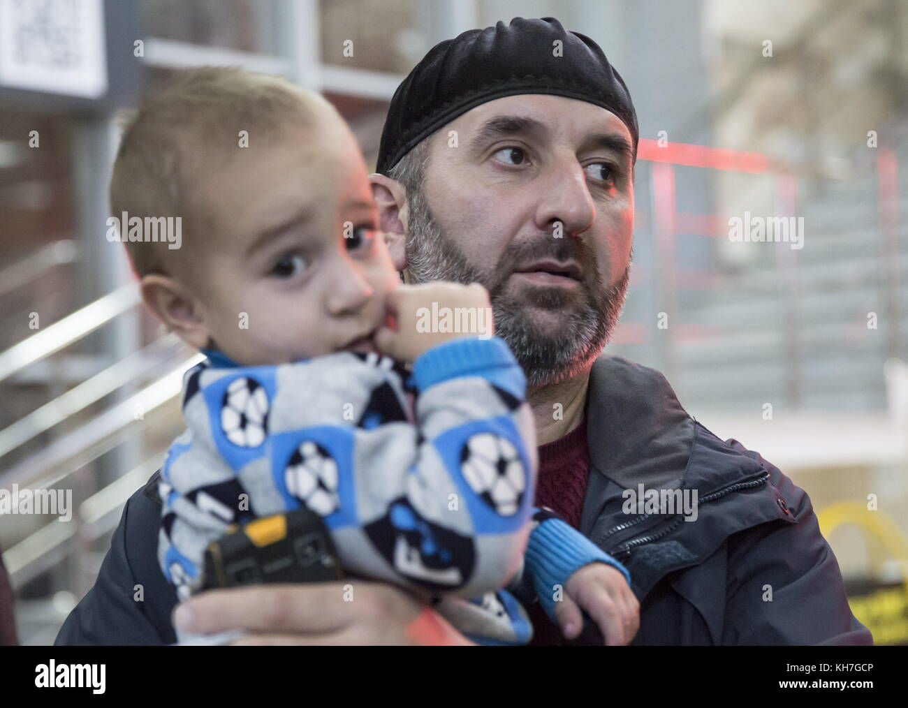 Grozny, Russia. 13th Nov, 2017. Commissioner for Children's Rights in the Chechen Republic, Khamzat Khirakhmatov, - Stock Image