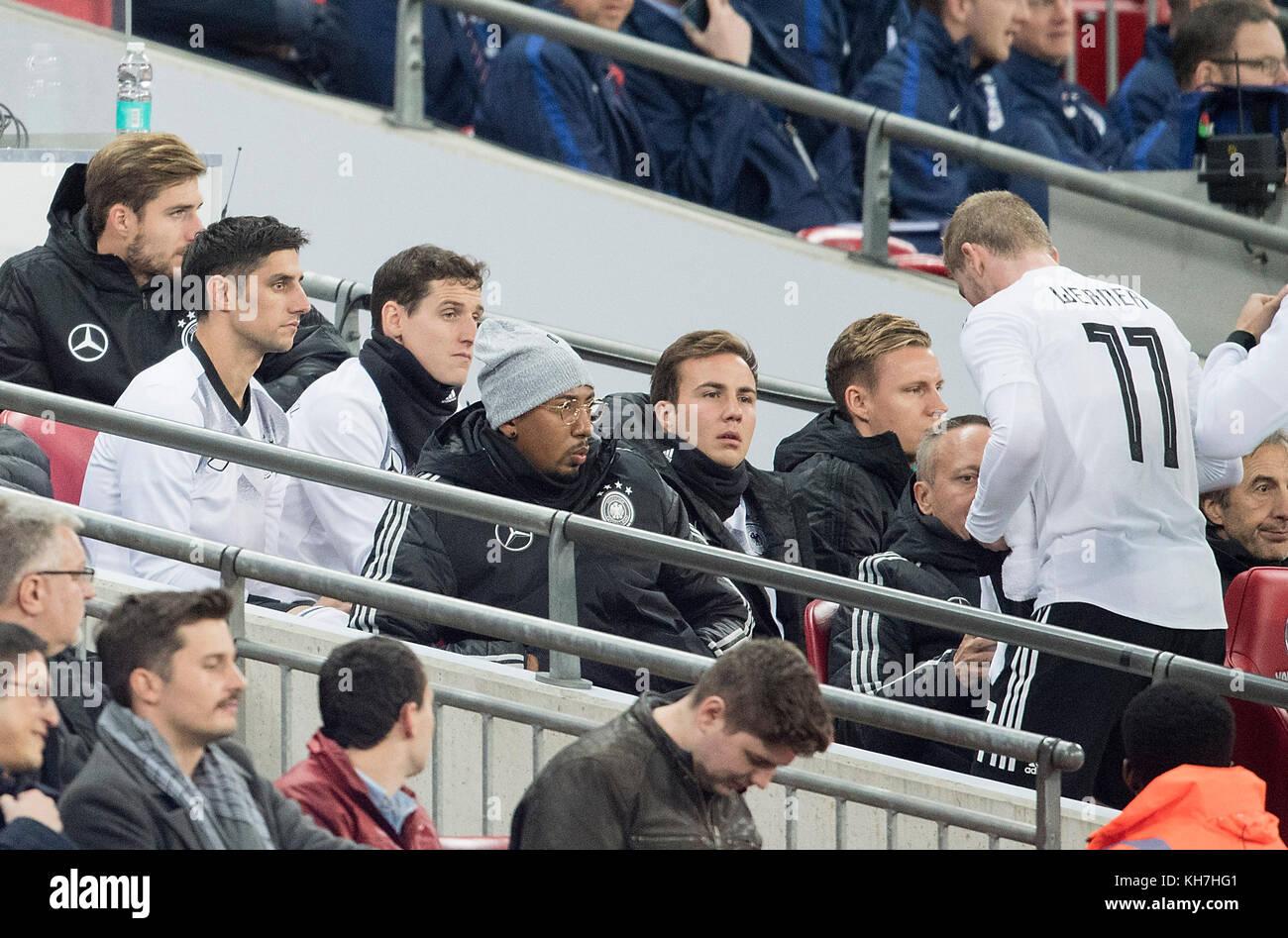 left to right goalwart Kevin TRAPP (GER), Lars STINDL (GER)m Sebastian RUDY (GER), Jerome BOATENG (GER), Mario GOETZE - Stock Image