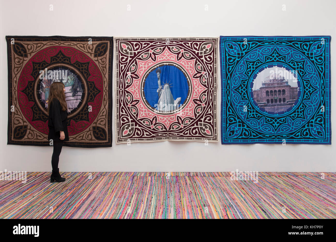 Saatch Gallery, London, UK. 15 November, 2017. The Tsukanov Family Foundation and Saatchi Gallery open Art Riot: - Stock Image