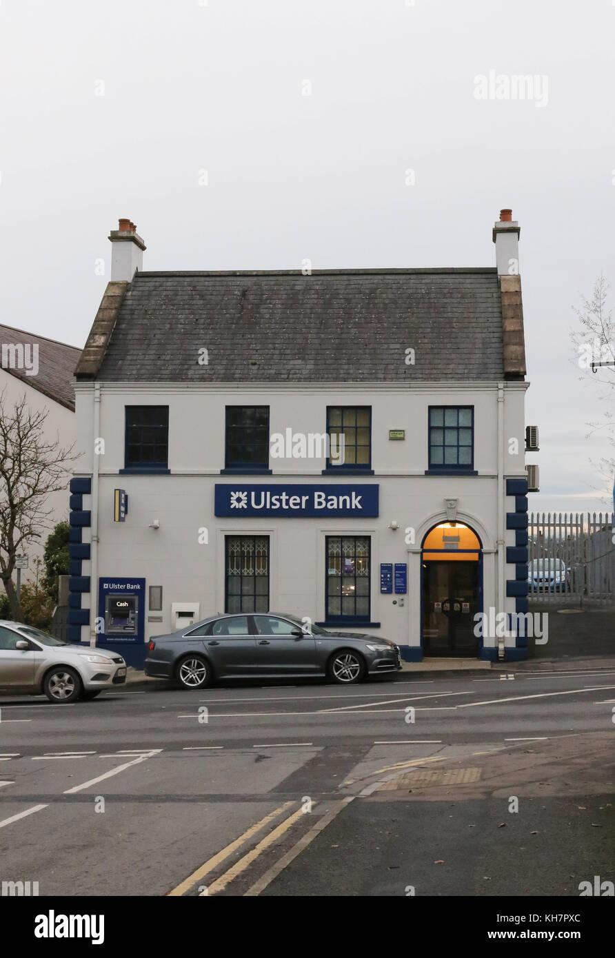 Moira Northern Ireland, UK. 15 November 2017. The Ulster Bank (part of The Royal Bank of Scotland Group) announced - Stock Image