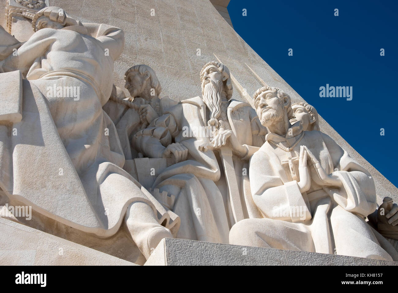The Padrao dos Descobrimentos, or Monument to the Discoveries, in the Belem district of Lisbon, Portugal. - Stock Image
