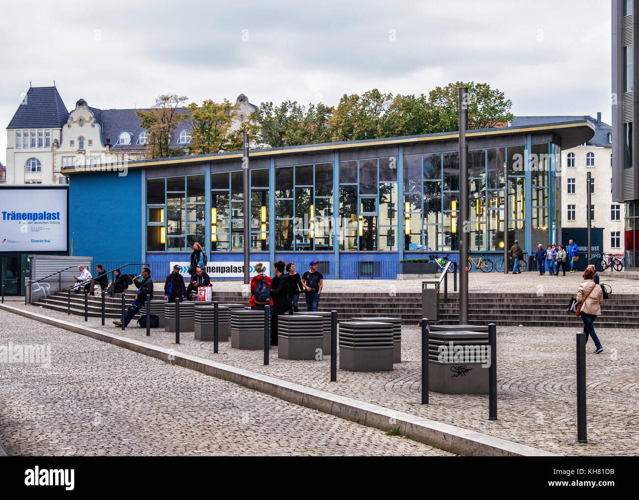 Berlin, Mitte.Tränenpalast,Palace of Tears.Exhibition and museum tells of border experiences of people living - Stock Image