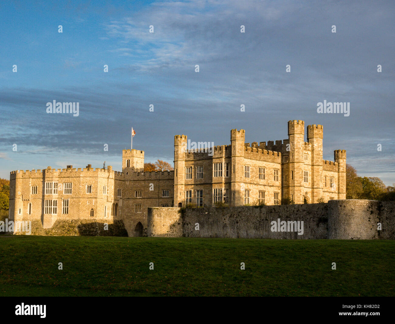 Leeds castle, Maidstone, Kent, UK - Stock Image