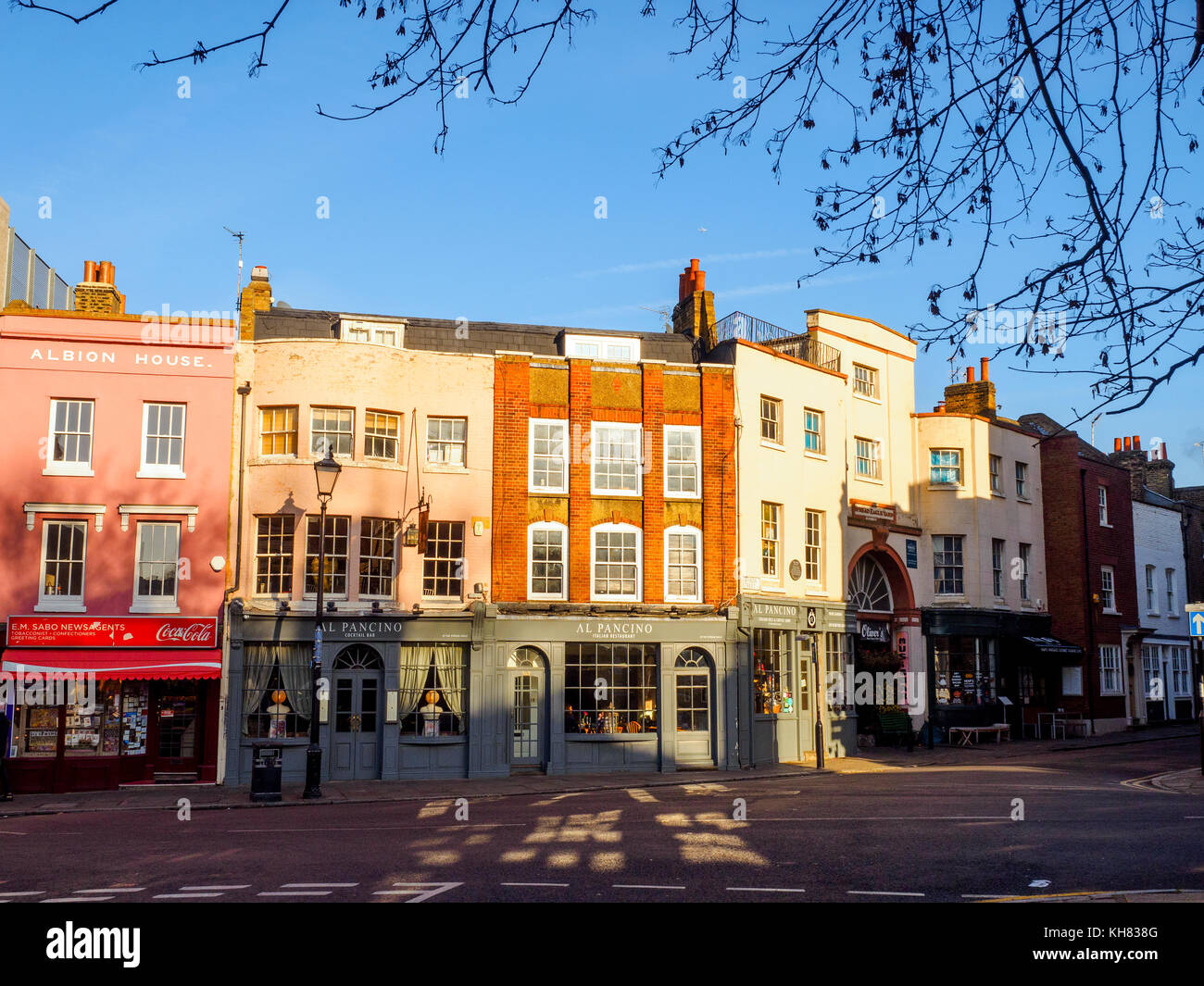 Stockwell street in Greenwich - London, England - Stock Image