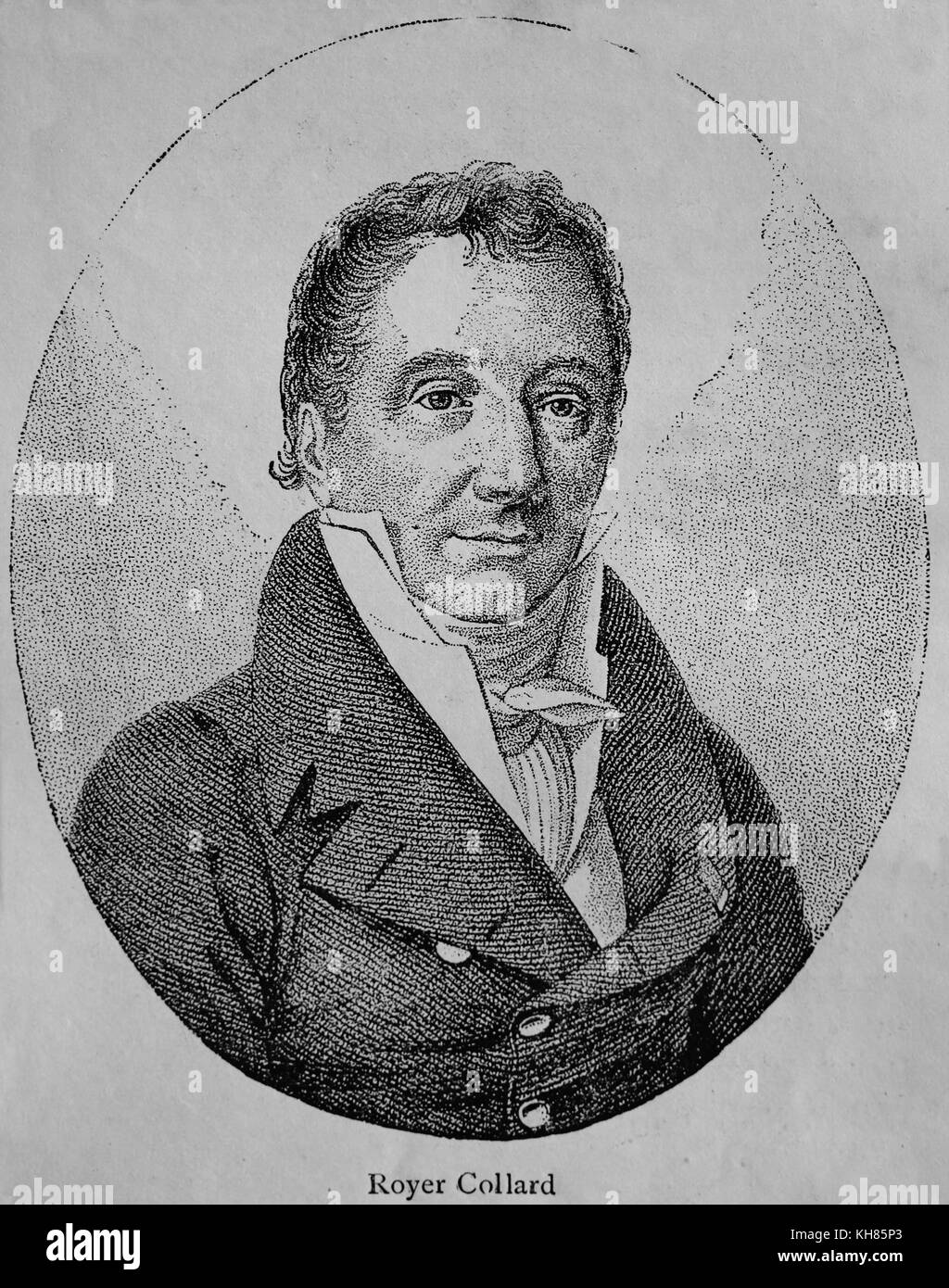 Pierre Paul Royer-Collard (1763-1845). French statesman and philosopher, leader of the Doctrinaires group. Engraving. - Stock Image