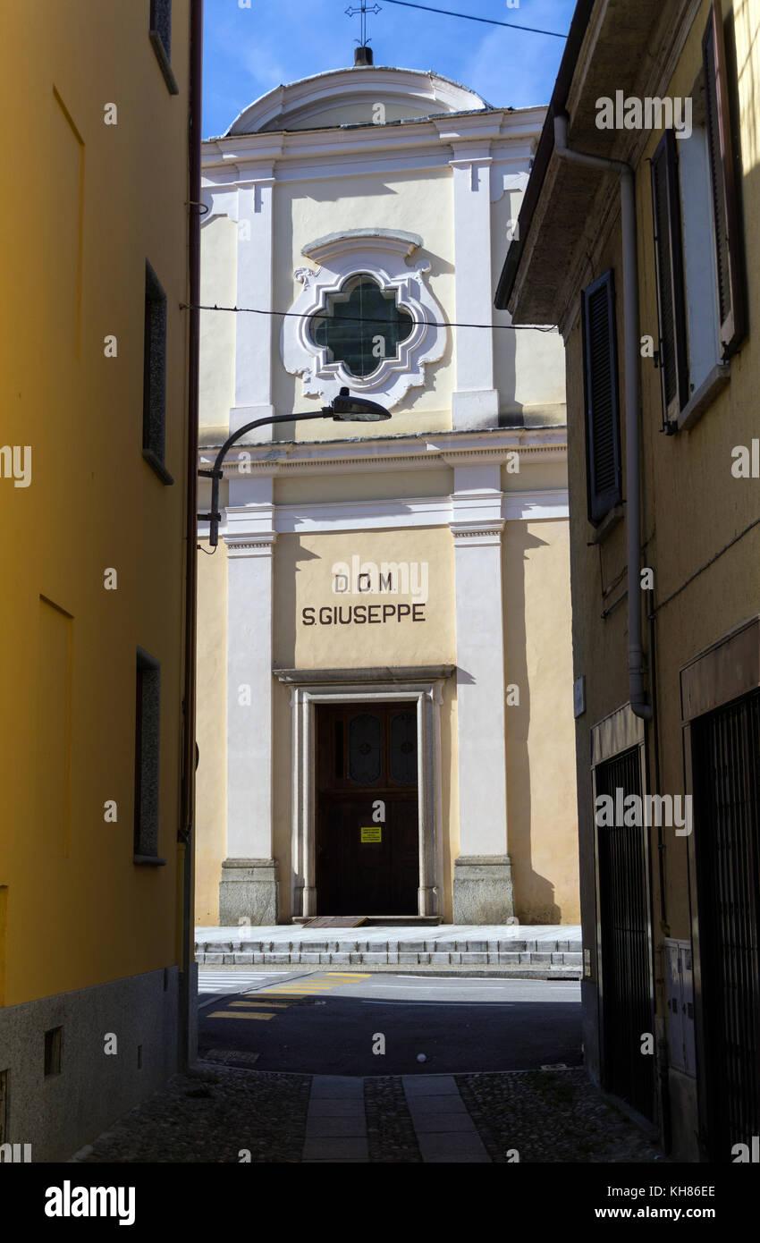 Italy,Piedmont,Verbania,Pallanza,San Giuseppe church - Stock Image