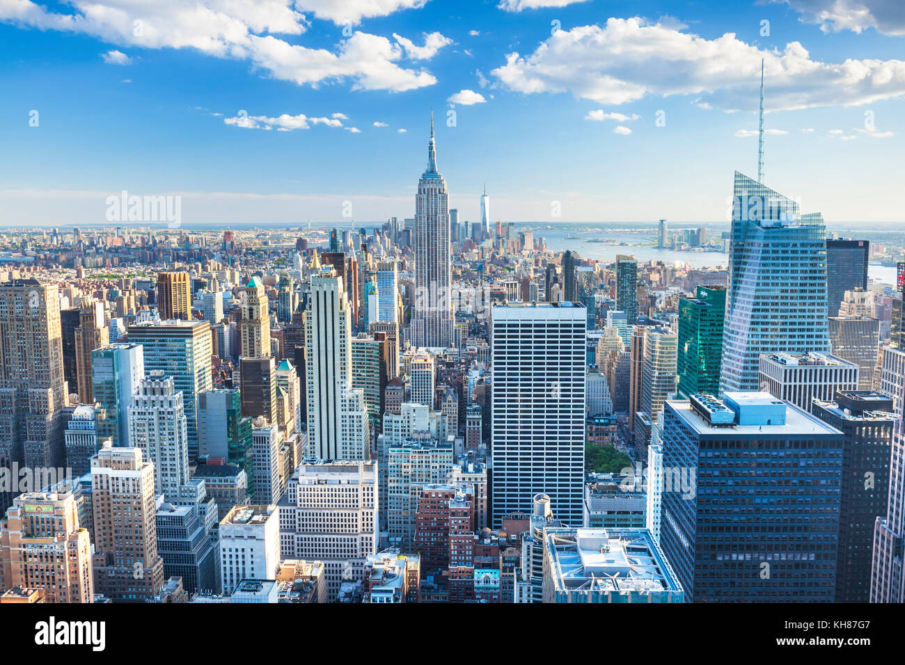 Manhattan skyline, New York Skyline, Empire State Building, New York City, United States of America, North America - Stock Image