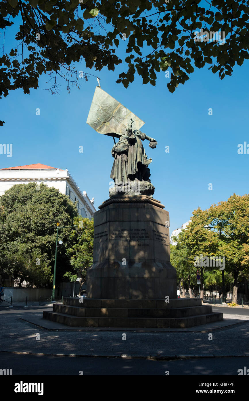 The Monument to Pedro Alvares Cabral, Lisbon, Portugal. - Stock Image