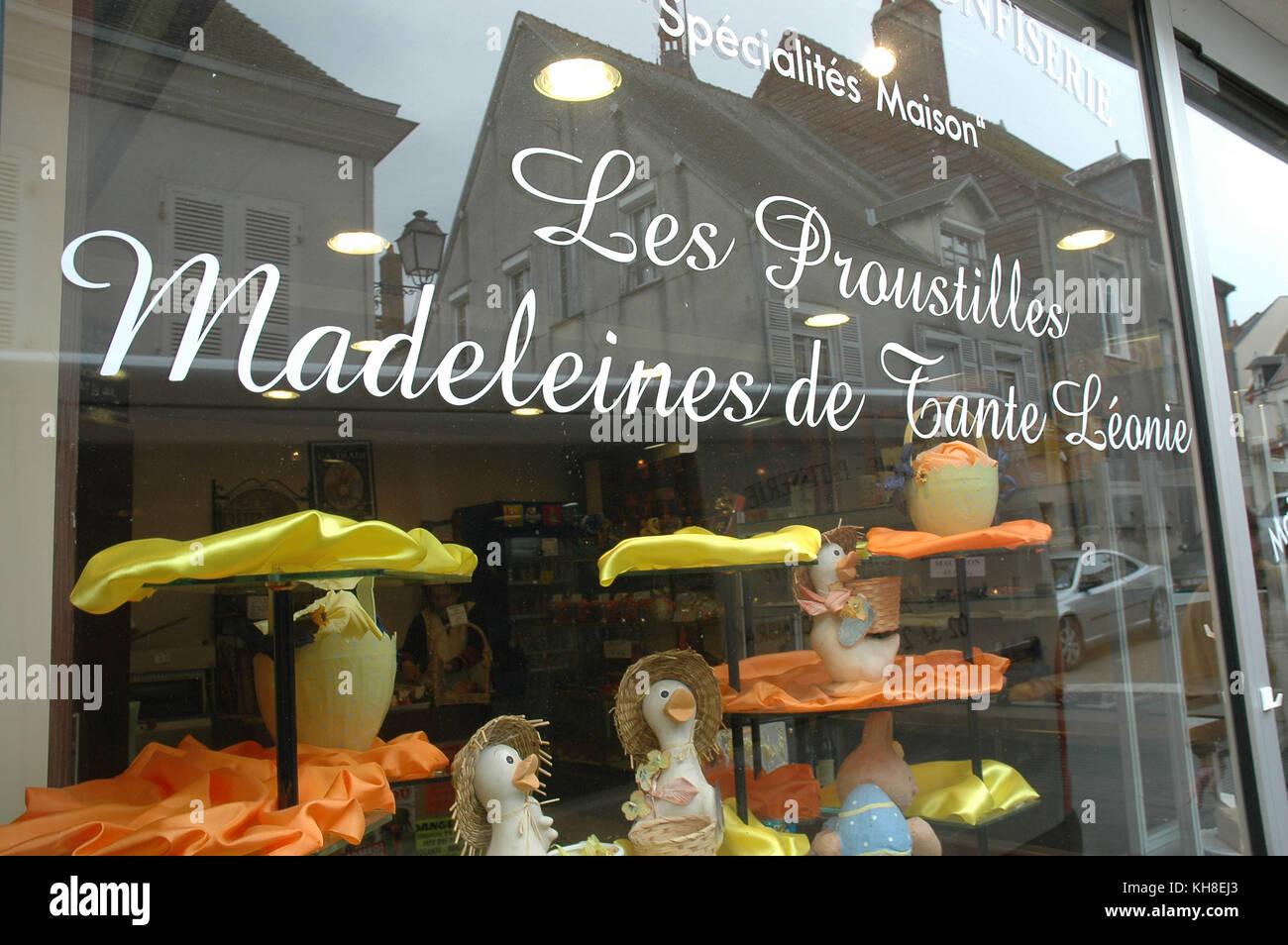 Store, 2008, Les Proustilles Madeleines de Tante Léonie, Combray da recherche Proust Illiers, France - Stock Image