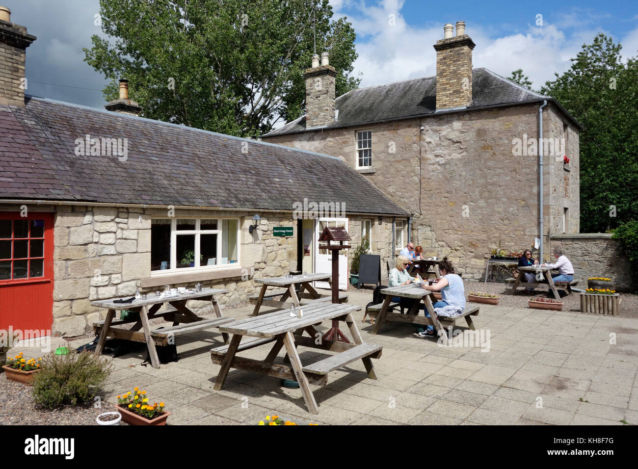 Hirsel Cottage Tearooms, Coldstream Stock Photo