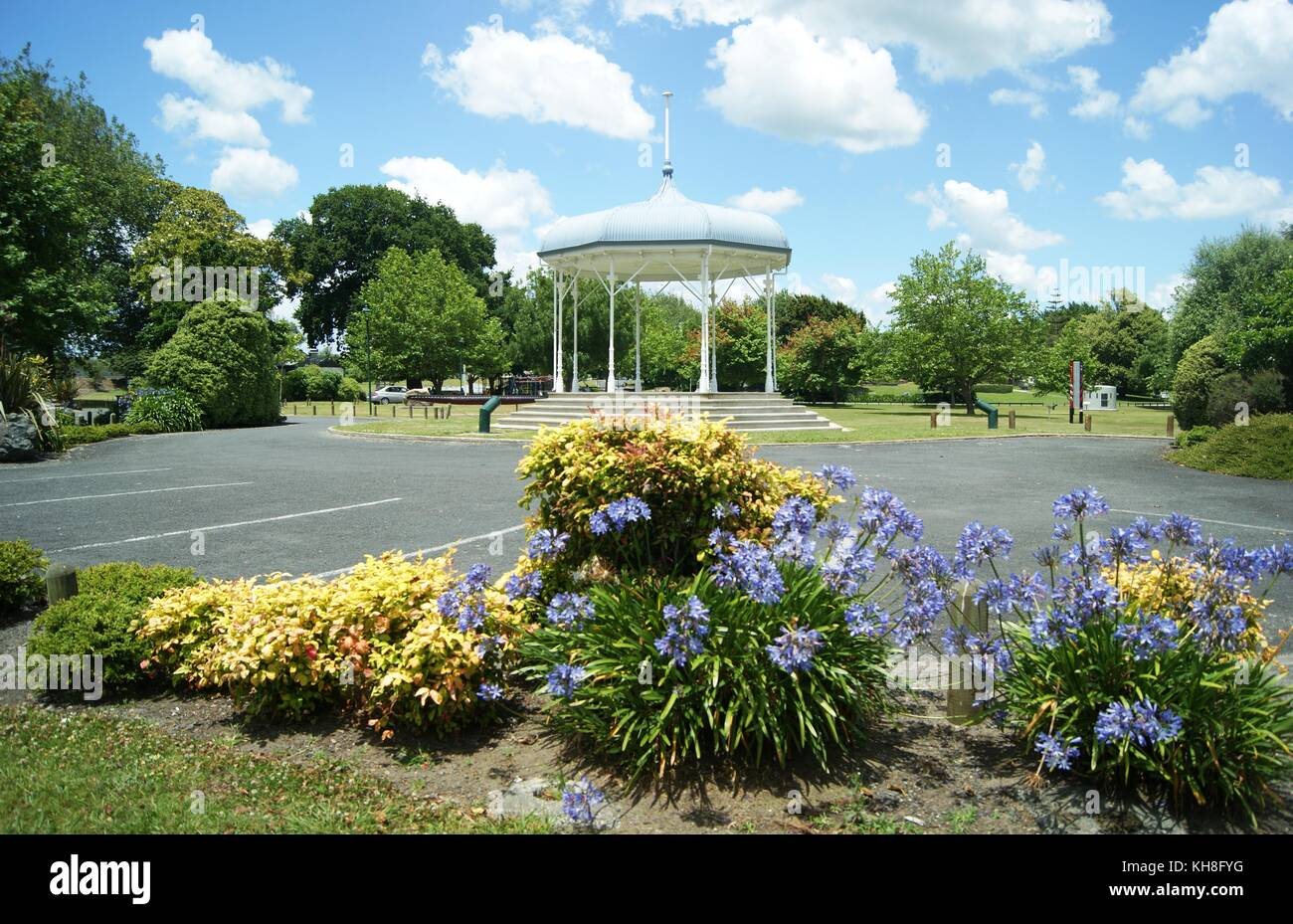 The bandstand at Ngaruswia, New Zealand - Stock Image