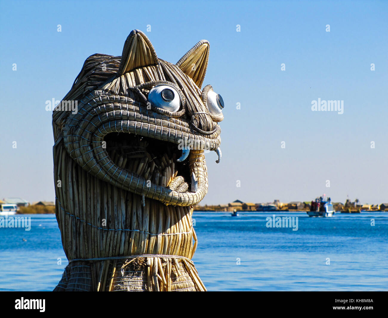 Titicaca lake from Peru waters - Stock Image