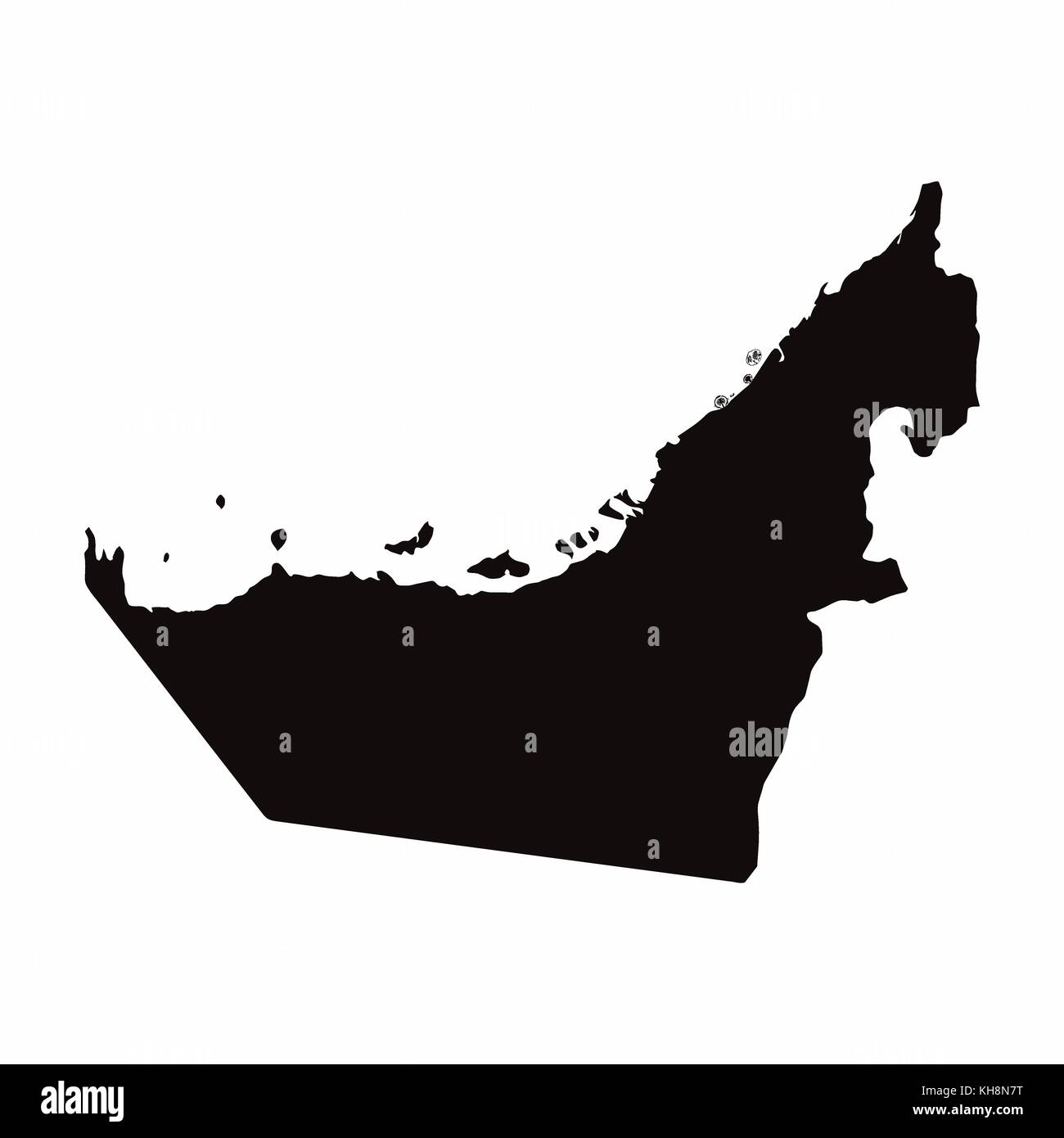 uae vector country map stock image