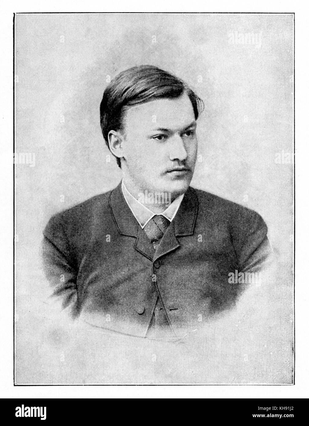 Alexander Glazunov - portrait of Russian composer, 10th August 1865 - 21st March 1936 - Stock Image