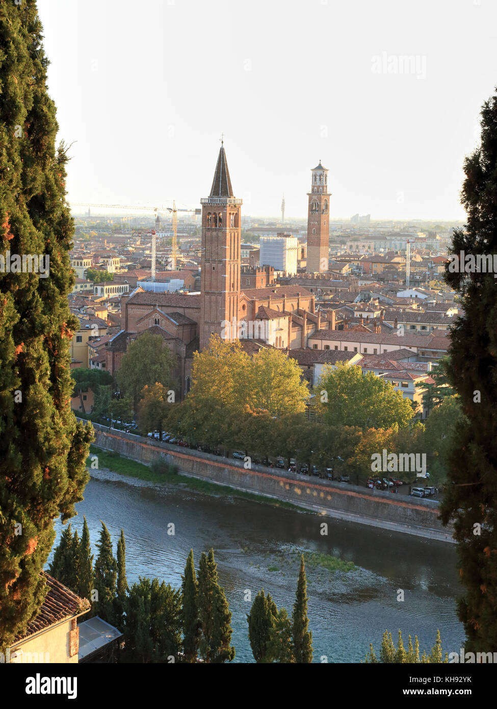 Verona, view from Saint Peter's Hill - Colle San Pietro - Stock Image