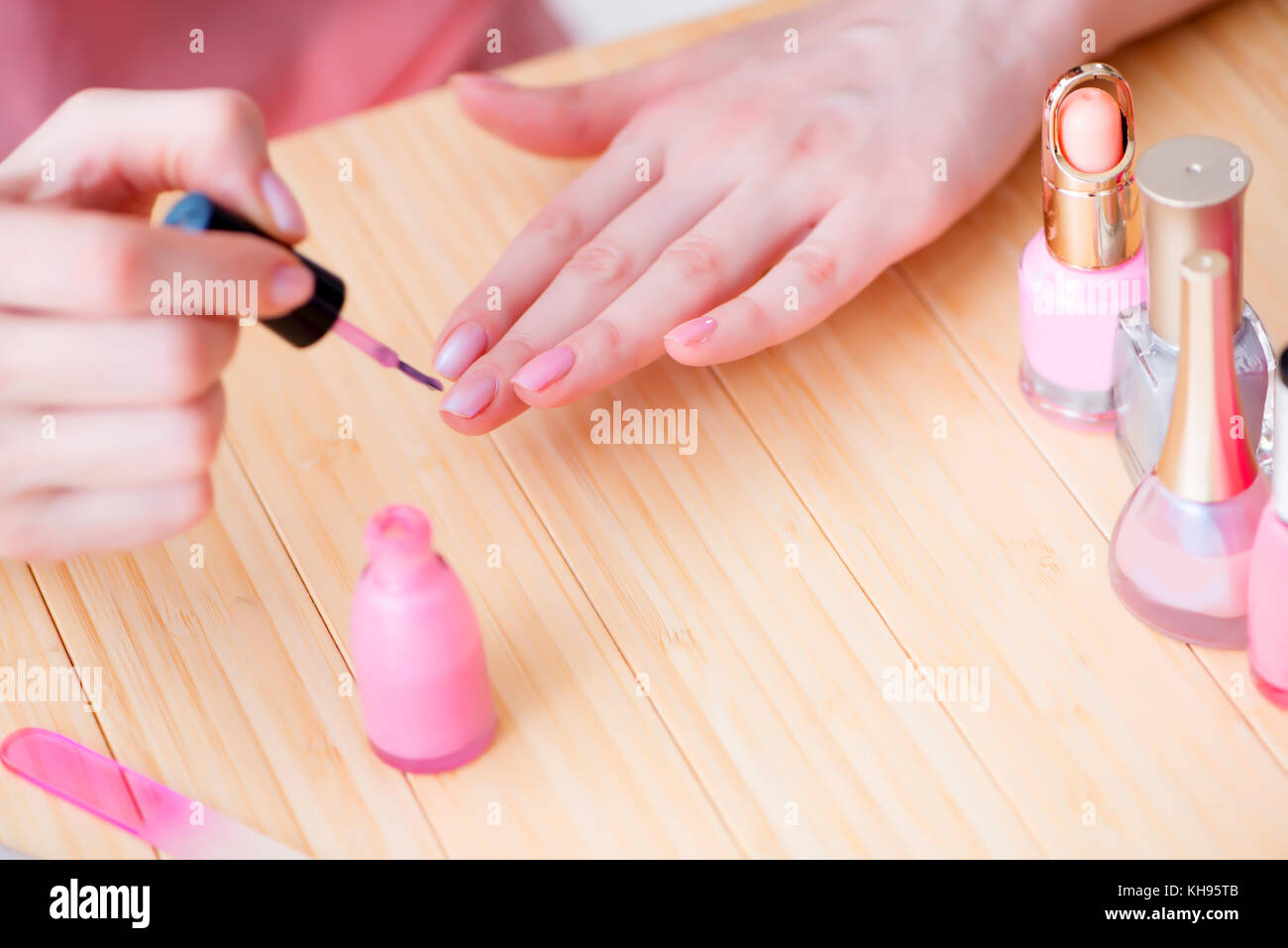 Beauty products nail care tools pedicure closeup Stock Photo ...